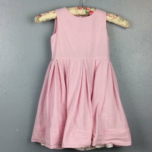 5d1aad9866 Ralph Lauren Dresses | Girls Pink Striped Seersucker Dress 3 | Poshmark